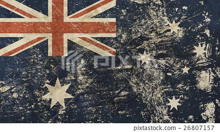 Old grunge vintage faded flag of Australia 26807157