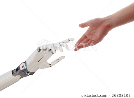 Human Robot Hands Reaching Artificial Intelligence 26808102