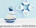 Sail boat Toy model background,Nautical background 26809066