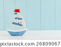 Sail boat Toy model with Seagull, Nautical 26809067