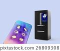 冰箱 觸摸屏 行動電話 26809308