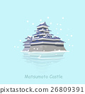 cartoon japan matsumoto castle 26809391