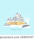 cute cartoon japan himeji castle 26809397