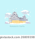cute cartoon japan kumamoto castle 26809398