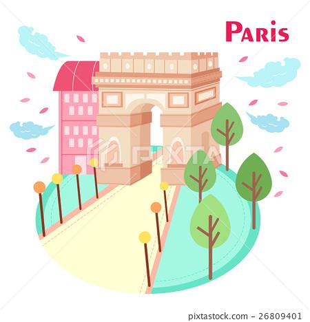 cartoon Arc de Triomphe 26809401