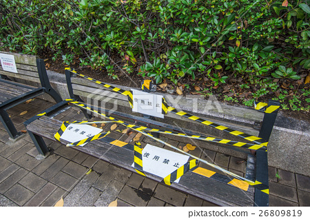 Broken bench 26809819