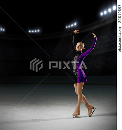 Young girl figure skater 26810898