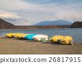 Lake Shoji and mountain Fuji at Japan 26817915