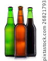 Set of beer bottles isolated 26821793