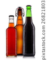 Set of beer bottles isolated 26821803