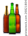Set of beer bottles isolated 26821804