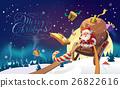 santa sleigh christmas 26822616