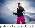 女人 女性 滑雪 26823532