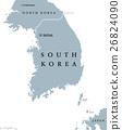 South Korea Political Map 26824090
