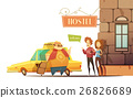Hostel Design Concept  With Managers Welcoming 26826689