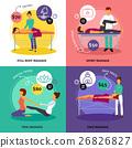 Massage Concept Icons Set  26826827