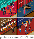 Musicians People Isometric 2x2 Icons Set 26826864