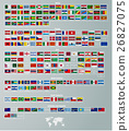 flags of countries divided by parts of the world 26827075