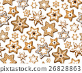 vector, xmas, gingerbread 26828863