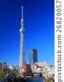 맑은 날의 도쿄 스카이 트리 이스트 타워 26829057