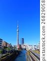 맑은 날의 도쿄 스카이 트리 이스트 타워 26829058