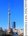 맑은 날의 도쿄 스카이 트리 이스트 타워 26829059