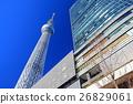 맑은 날의 도쿄 스카이 트리 이스트 타워 26829061