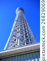 맑은 날의 도쿄 스카이 트리 26829069