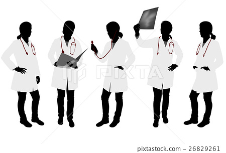 female doctor silhouettes 26829261