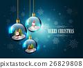 Merry Christmas, Hanging Christmas glass ball 26829808