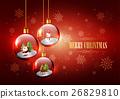 Merry Christmas, Hanging Christmas glass ball 26829810