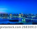 오다이바에서 바라 보는 도쿄의 야경 (레인보우 브릿지, 도쿄 타워) 26830913