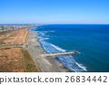 Kujukuri Ichinomiya Fishinggasaki Coast Ichinomiya Higashi Mimomi海岸的鳥瞰圖 26834442