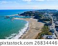 Kujukuri Ichinomiya Fishinggasaki Coast Ichinomiya Higashi Mimomi海岸的鳥瞰圖 26834446