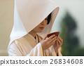 white kimono, sake cup, bride 26834608