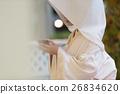 white kimono, sake cup, bride 26834620
