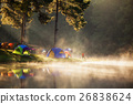 Pang ung park and Morning in forest with camping 26838624