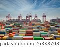 Shanhai tranfer container box to Singapore hub 26838708