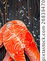 Fresh Raw Salmon Red Fish Steak 26839470