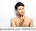 Closeup portrait of attractive young man face 26840720