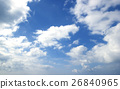 Blue sky white clouds Abstract nature 26840965