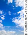 藍天天空雲彩秋天天空背景材料11月拷貝空間 26843106