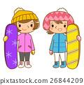 滑雪板 冬季運動 夥伴 26844209