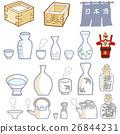 japanese sake, vector, vectors 26844231