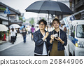 heterosexual couple, umbrella, brolly 26844906