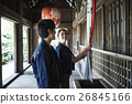 heterosexual couple, visiting shrine or temple, grand shrine at ise 26845166