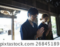 heterosexual couple, shrine visit, visiting shrine or temple 26845189