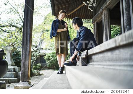 heterosexual couple, journey, touristic 26845244