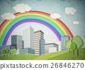 Drawn colorful cityscape 26846270