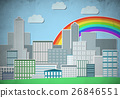 Drawn colorful cityscape 26846551